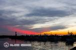 夕闇の鵜苫漁港
