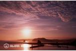 夕陽の様似港