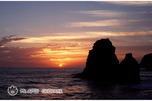 鵜の鳥岩の夕陽